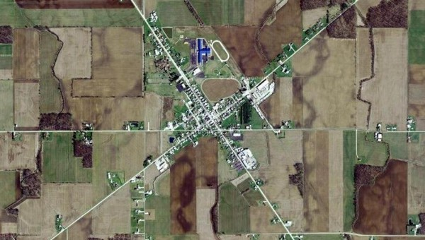 Small Town America - Aerial View